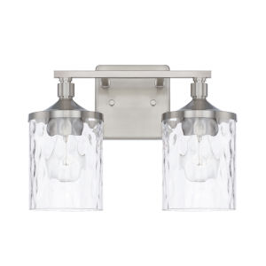 HomePlace Colton Brushed Nickel 13-Inch Two-Light Bath Vanity