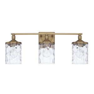 HomePlace Colton Aged Brass 24-Inch Three-Light Bath Vanity