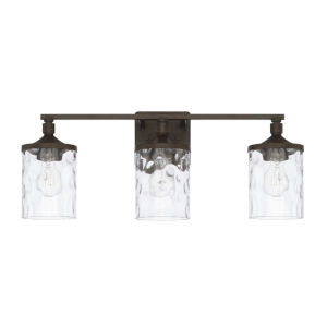 HomePlace Collier Urban Brown 24-Inch Three-Light Bath Vanity