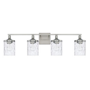 HomePlace Colton Brushed Nickel 34-Inch Four-Light Bath Vanity
