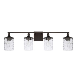 HomePlace Colton Bronze 34-Inch Four-Light Bath Vanity