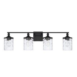 HomePlace Colton Matte Black 34-Inch Four-Light Bath Vanity