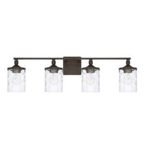HomePlace Collier Urban Brown 34-Inch Four-Light Bath Vanity