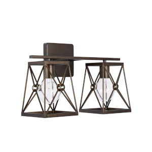Adrian Buffed Bronze Two-Light Bath Vanity