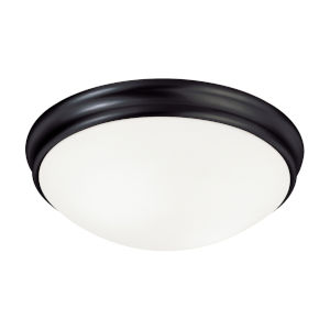 Matte Black Two-Light Flush Mount