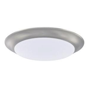 HomePlace Brushed Nickel Eight-Inch LED Flushmount