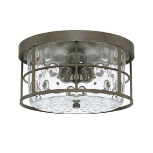 Bristol Black Two Light Flush Mount
