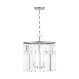 Drake Antique Silver Four-Light Semi-Flush
