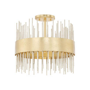 Lena Gold Four-Light Semi-Flush Mount