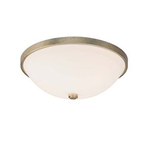 Winter Gold Two Light Flush Mount