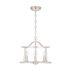 HomePlace Cameron Brushed Nickel Four-Light Semi-Flush Mount and Pendant