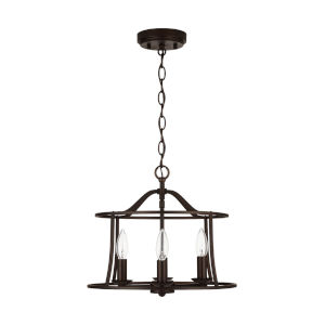 HomePlace Cameron Bronze Four-Light Semi-Flush Mount and Pendant