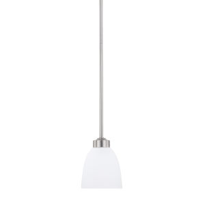 HomePlace Jameson Brushed Nickel 52-Inch One-Light Mini Pendant