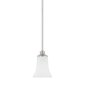 HomePlace Griffin Brushed Nickel 52-Inch One-Light Mini Pendant