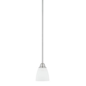 HomePlace Trenton Brushed Nickel 51-Inch One-Light Mini Pendant