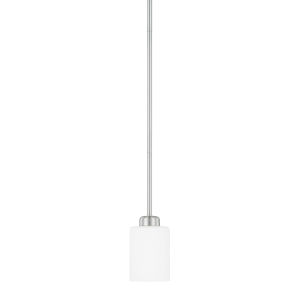 HomePlace Dixon Brushed Nickel 53-Inch One-Light Mini Pendant