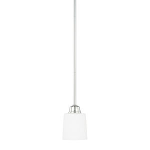 HomePlace Hayden Polished Nickel 53-Inch One-Light Mini Pendant