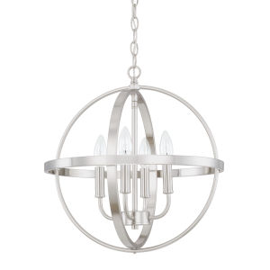 HomePlace Brushed Nickel 17-Inch Four-Light Pendant
