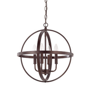 HomePlace Bronze 17-Inch Four-Light Pendant