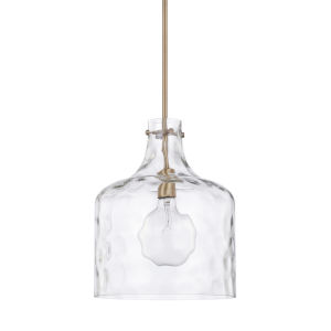 HomePlace Aged Brass 12-Inch One-Light Pendant