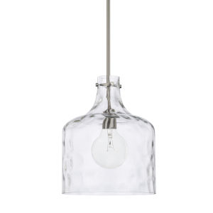 HomePlace Brushed Nickel 12-Inch One-Light Pendant