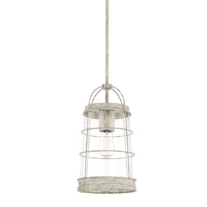 Beaufort Gray Eight-Inch One-Light Pendant