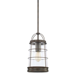 Beaufort Nordic Grey Eight-Inch One-Light Pendant