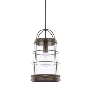 Beaufort Nordic Grey 11-Inch One-Light Pendant