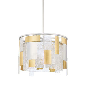 Mixed Metal 18-Inch Four-Light Pendant