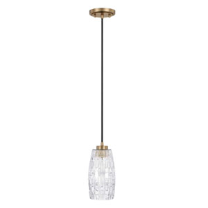 Aged Brass 5-Inch One-Light Pendant