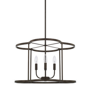 HomePlace Collier Urban Brown 18-Inch Four-Light Pendant