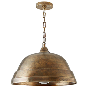 Independent Oxidized Brass One-Light Pendant