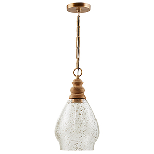 Independent Light Wood 8-Inch One-Light Pendant