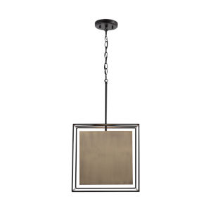 Paxton Aged Brass and Black One-Light Pendant
