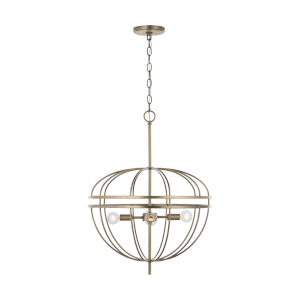Fontaine Aged Brass Four-Light Pendant