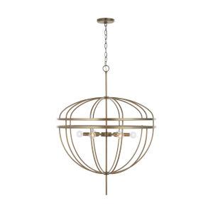 Fontaine Aged Brass Six-Light Pendant