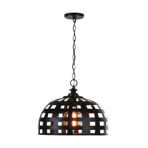 Garrison Matte Black One-Light Pendant