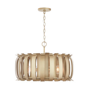 Cayden Aged Brass Painted Four-Light Pendant