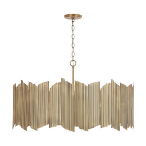 Xavier Aged Brass 35-Inch Six-Light Pendant
