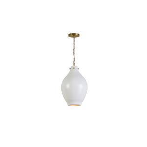 Patinaed Brass 12-Inch One-Light Pendant