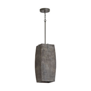 Carbon Grey and Iron Silk One-Light Pendant