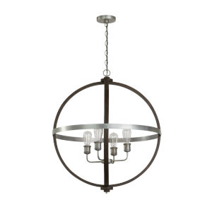 Ashton Carbon Grey and Matte Nickel 26-Inch Four-Light Pendant