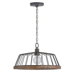 Grey Wash and Iron 18-Inch One-Light Pendant