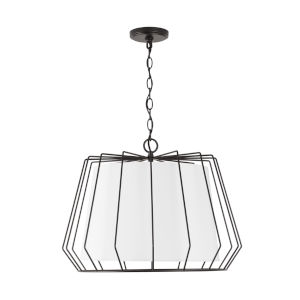 Corey Matte Black Four-Light Pendant