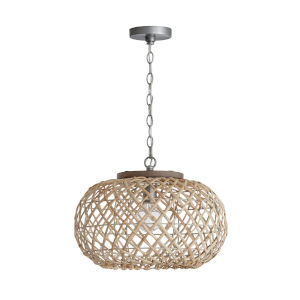 Grey Wash and Antique Nickel One-Light Pendant