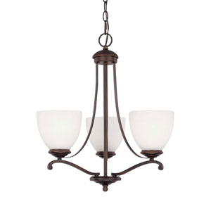 Chapman Burnished Bronze Three-Light Chandelier