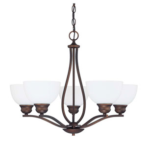 Stanton Burnished Bronze Five-Light Chandelier