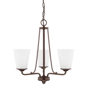 HomePlace Braylon Bronze 18-Inch Three-Light Chandelier