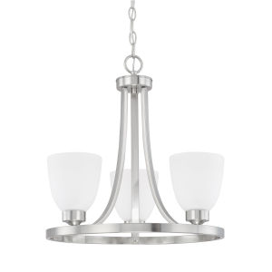 HomePlace Jameson Brushed Nickel 18-Inch Three-Light Chandelier