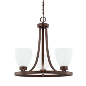 HomePlace Jameson Bronze 18-Inch Three-Light Chandelier